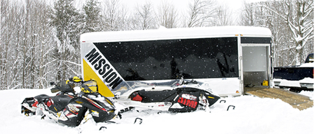 Snow Mobile Trailer closed